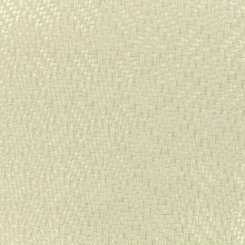 Simili cuir sur feutre Charlize - blanc x 10cm