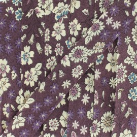 Flowered Bias binding C8 - ecru/purple/blue/ochre