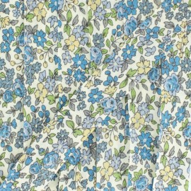 Flowered Bias binding C15 - ecru/blue/sky blue/pale yellow/green