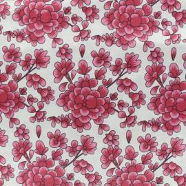 Tissu soie Blossom - ivoire  x 10cm