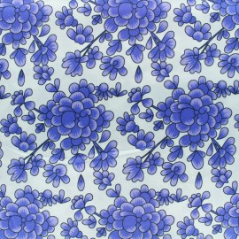Silk Fabric Blossom - light blue x 10cm