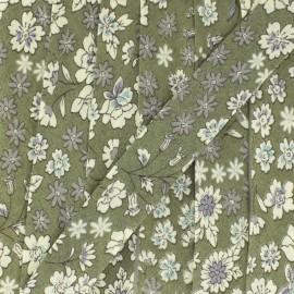Flowered Bias binding C3 - ecru/khaki/sky blue/seagreen