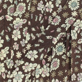 Flowered Bias binding C10 - brown/ecru/sky blue/pink/purple