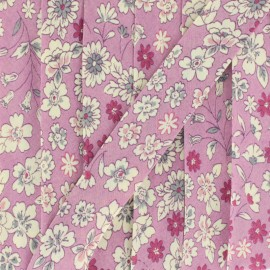 Flowered Bias binding C1 - ecru/fuchsia/red/pink/blue