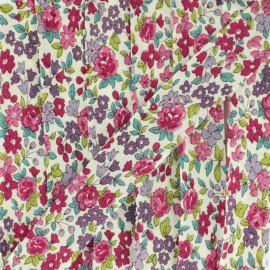 Flowered Bias binding C13 - ecru/red/fuchsia/purple/sky blue/green