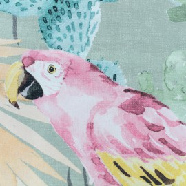 Cotton canvas fabric Garamba allover - green x 65cm