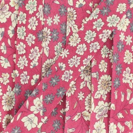 Biais fleuri C21 - rouge framboise x 1m
