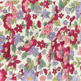 Flowered Bias binding C21 - red x 1m