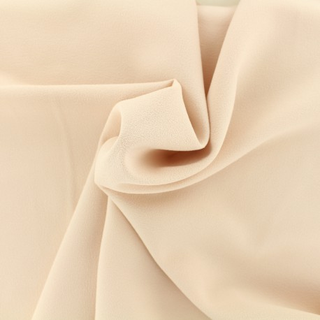 Blouse Crepe Fabric - nude x 10cm