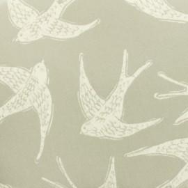 Tissu coton enduit Fly away - gris  x 30cm