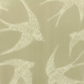 Coated cotton Fabric Fly away - taupe  x 30cm