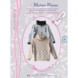 Coat Rosalie sewing pattern Madame Maman of Children / Babies