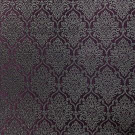 Tissu jacquard ornement - bordeaux et or x 10cm