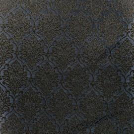 Tissu jacquard ornement - gris et or x 10cm