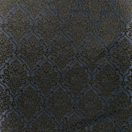 Jacquard fabric ornaments - grey and gold x 10cm