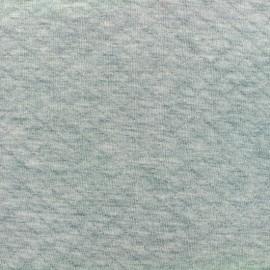 Tissu jersey matelassé losanges 10/20 - aqua clair chiné x 10cm