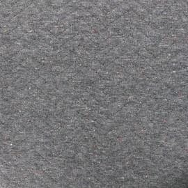Tissu jersey matelassé losanges 10/20 - gris chiné moucheté x 10cm