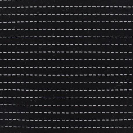 Milano jersey fabric stripes - black x 10cm
