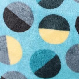 Tissu Doudou Circle - vert x 10cm