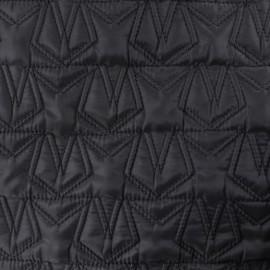 Nylon quilted lining fabric stars - black x 10cm