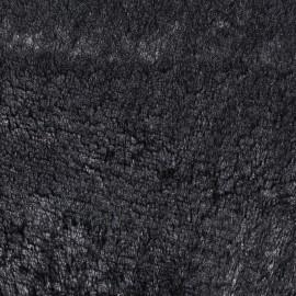 Iridescent fur fabric - black x 10cm
