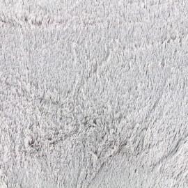 Fourrure irisée - argent x 10cm