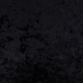 strucked stretch velvet jersey fabric - black x 10cm