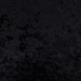 Tissu velours frappé sur jersey - noir x 10cm