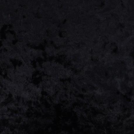 Tissu velours frappé sur jersey - nuit x 10cm