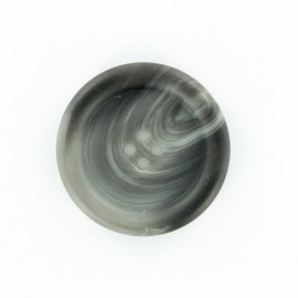 Marbled polyester button - brown