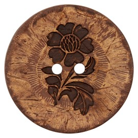 Flower Power Coconut Button - natural