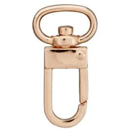 13 mm round metal hook Victoria - black