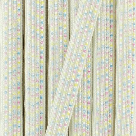 Galon irisé Anna 10 mm - blanc x 1m