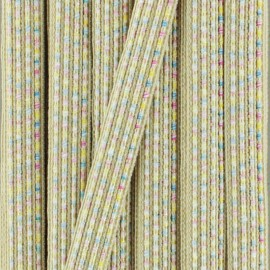 10 mm iridescent ribbon Anna  - white x 1m
