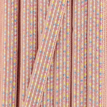 10 mm iridescent ribbon Anna  - black x 1m