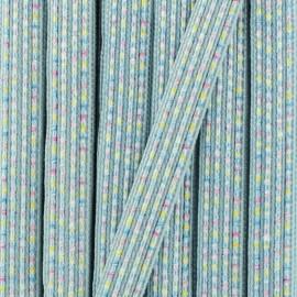 10 mm iridescent ribbon Anna  - pink x 1m