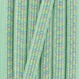 Galon irisé Anna 10 mm - vert d'eau x 1m