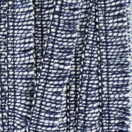 18 mm fringe trimming ribbon - navy blue x 1m