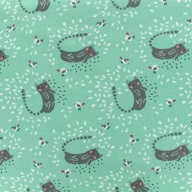 Oeko-Tex jersey fabric Itchy - mint x 10cm