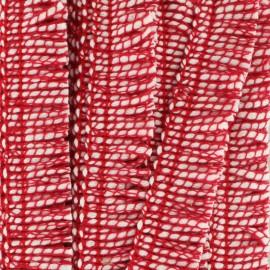 Galon à franges Joséphine 18 mm - rouge x 1m