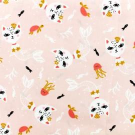 Tissu Oeko-Tex coton crétonne siamirene - rose x 10cm