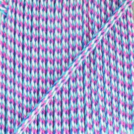 Cotton spaghetti cord C9 - black x 1m