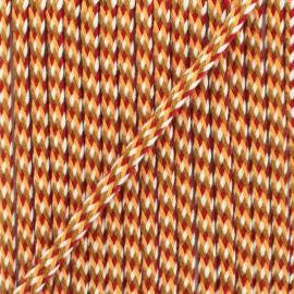 7 mm braided cord D - pink/fuchsia x 1m