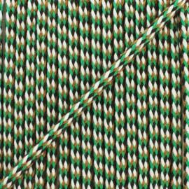 7 mm braided cord E - orange/carmine x 1m