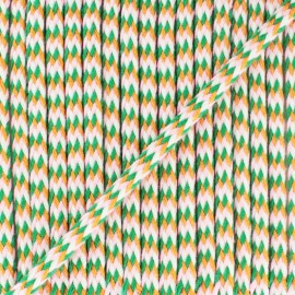 7 mm braided cord F - green/hazelnut x 1m