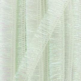 Galon à franges irisé Fête - blanc x 1m
