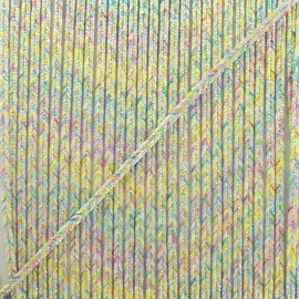 3mm iridescent braided lace Aurore - white x 1m
