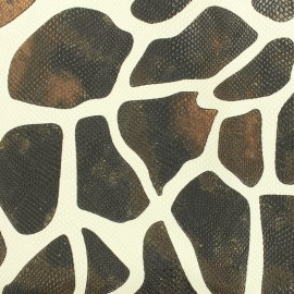 Imitation leather Giraffe with a snake aspect - brown x 10cm