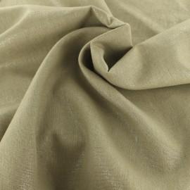 Tissu lin viscose irisé - camel x 10cm