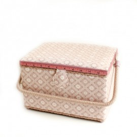 Sewing box size L - Indie - pink